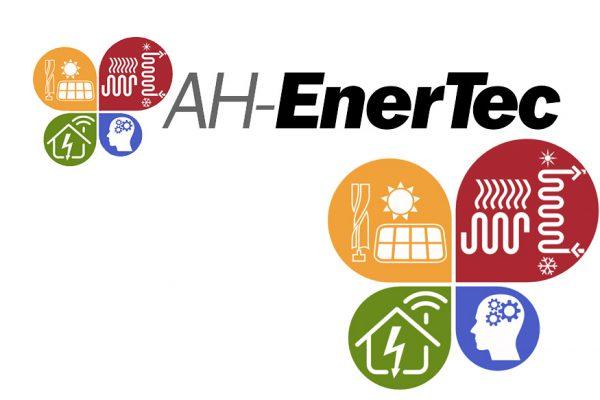 Enertec - erneuerbare Energie Logodesign Solar Wärmepumpe Erdwärme Logodesigner